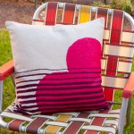 two string jane heart pillow