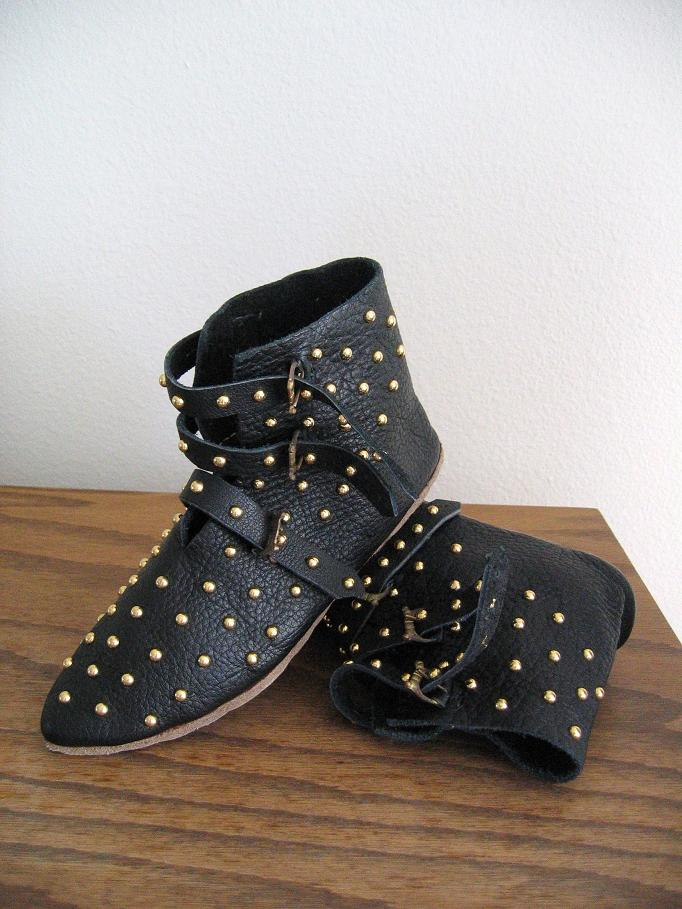 Studded 3 Buckle Ankle Boots