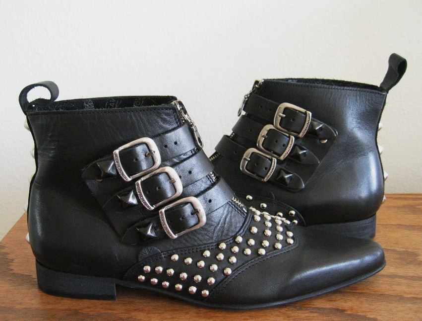 Black Studded Beatle Boots