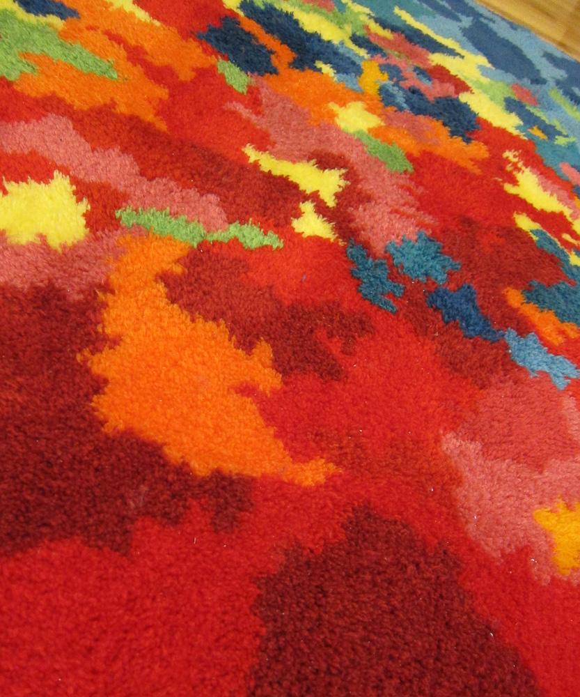 Diy Hand Latch Hooked Psychedelic Shag Rug Two String Jane