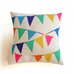 Triangle Bunting Banner Pillow