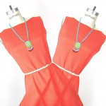 Vintage Tangerine Shift Dress