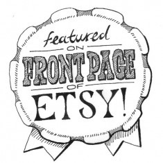 I Was Featured on Etsy&#039;s Front Page Badge