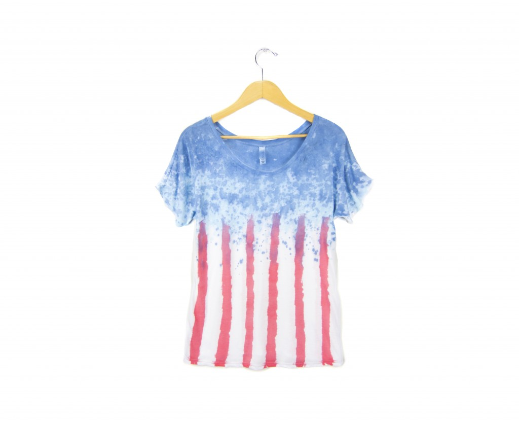 Two string jane Spangled Banner Tee