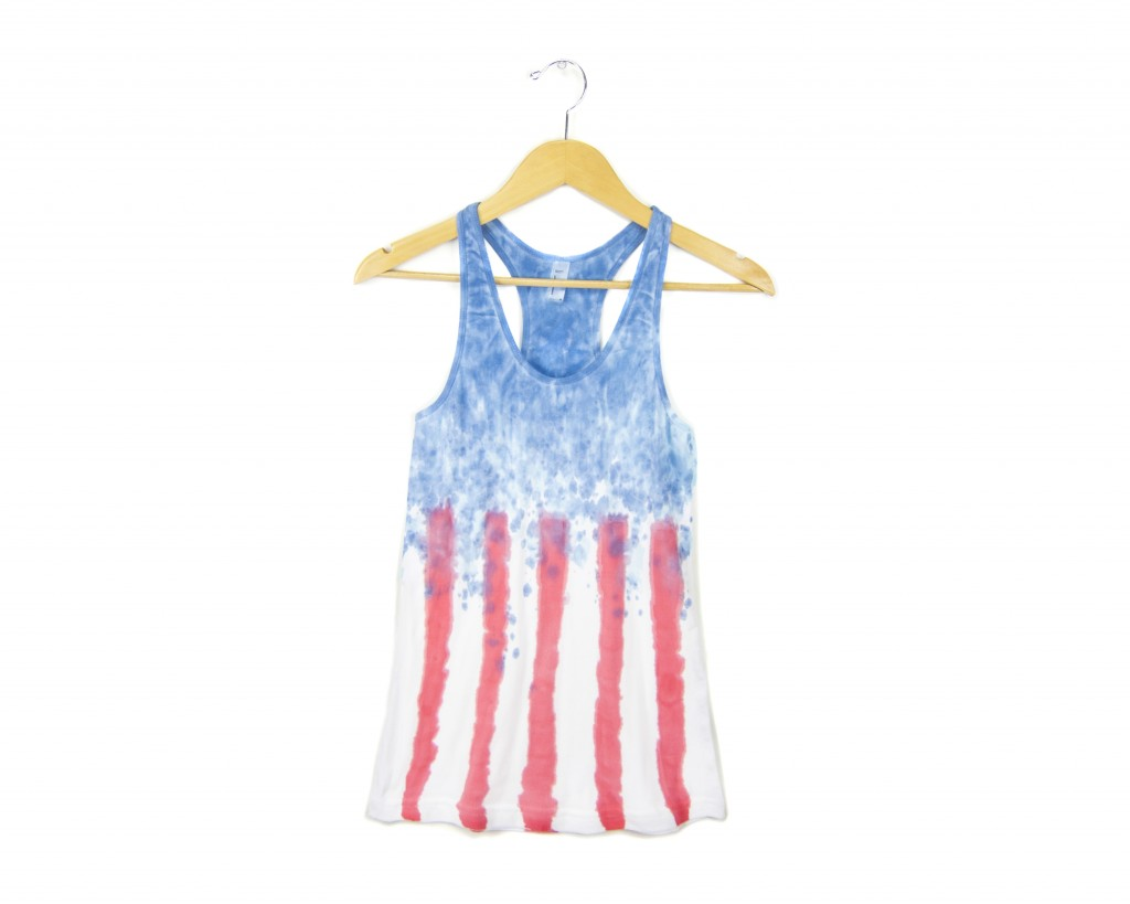 Two string jane Spangled Banner Tank