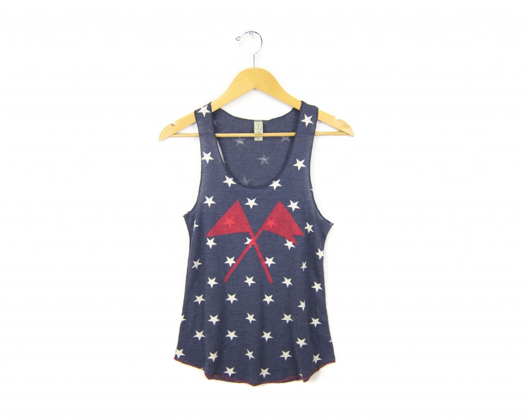Two string jane Crossed Flags Tanks