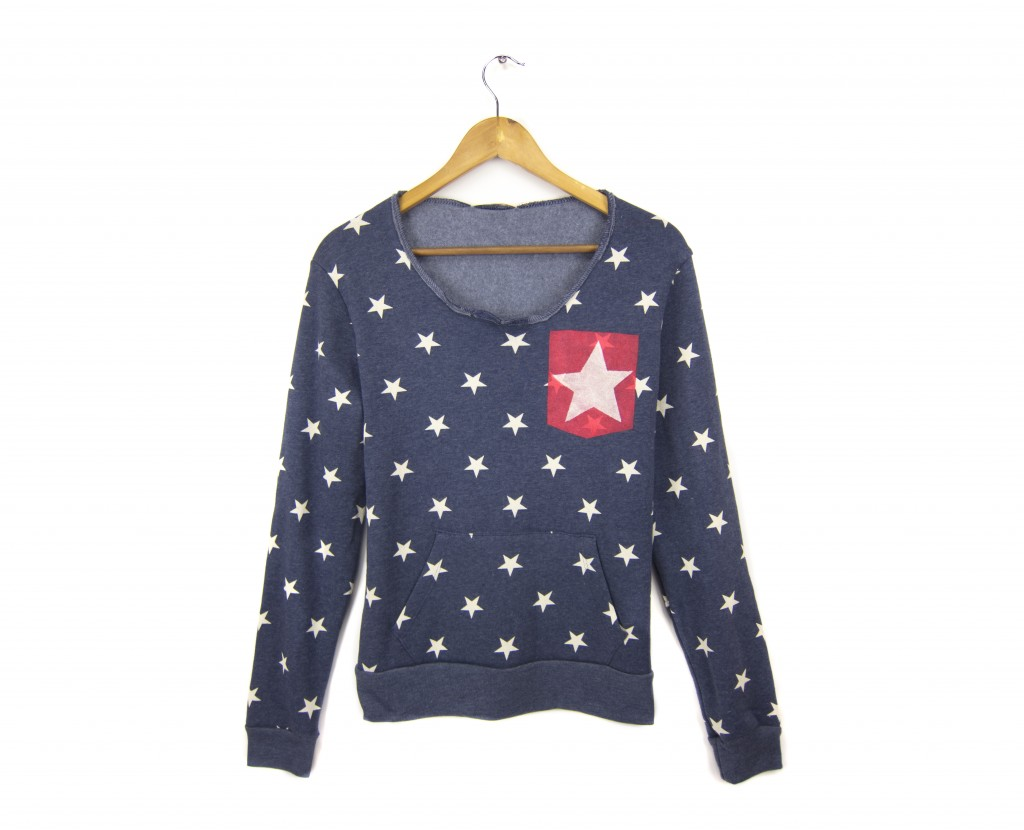 Two string jane Starry Pocket sweatshirt