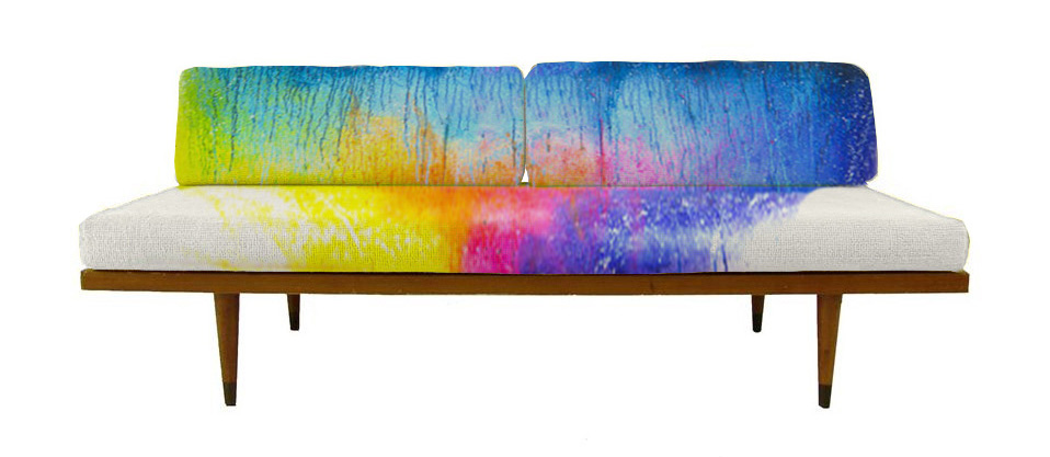 Mid Century Splash Dyed rainbow daybed