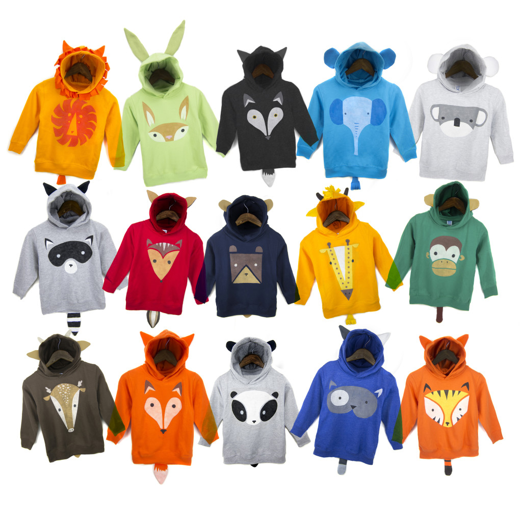 Animal Hoodies Collage