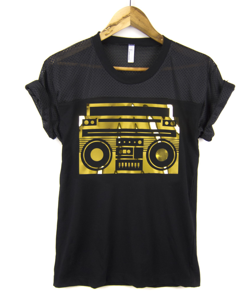 Gold Foil Boom Box T-Shirt