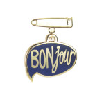 two string jane Enamel BONjour pin
