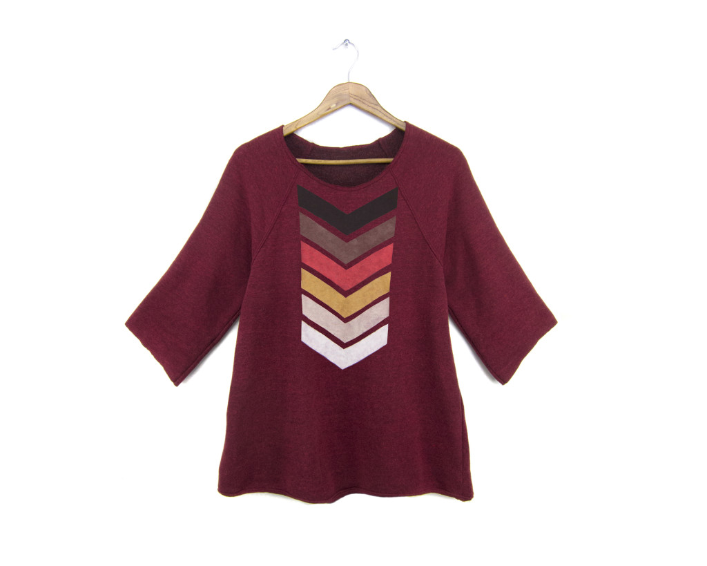 Fleece Chevron Tunic