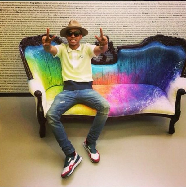 MTV rainbow couch
